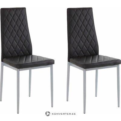 Juoda kėdė su minkšta odine danga (brooke) (su grožio defektais. Hall pavyzdys)