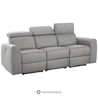 Gaiši pelēks dīvāns ar relaksācijas funkciju (sentrano)