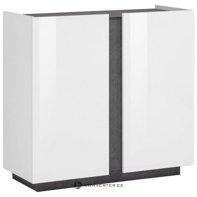 White-gray shoe cabinet (rosco) (whole, sample hall)