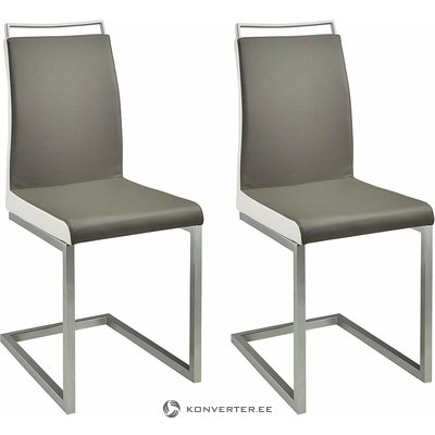 Harmaa-valkoinen tuoli