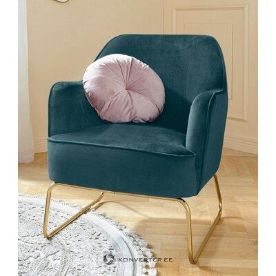 Кресло бирюзовое бархатное (semois)
