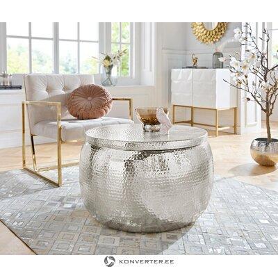 Круглый алюминиевый журнальный столик (ломм)