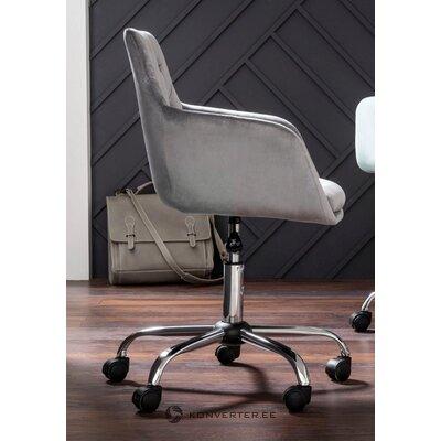 Pilka aksomo biuro kėdė (perry)