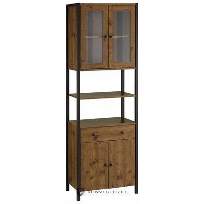 High dark brown cabinet with glazes
