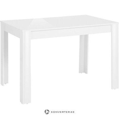 White high gloss dining table (lynn)