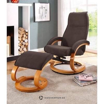 Dark brown swivel armchair