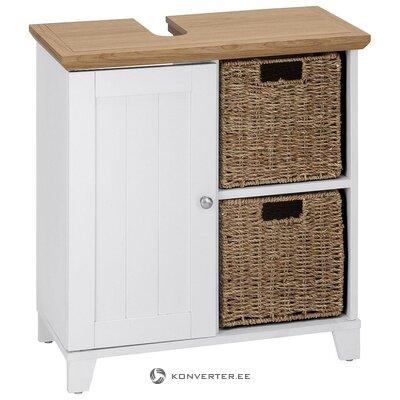 Brown and white washbasin cabinet (amigo)