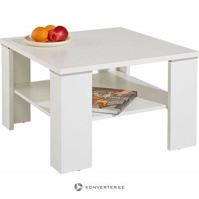 Valkoinen sohvapöytä (quadra) (kauneusvikoilla, laatikossa)