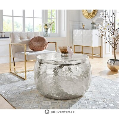 Round aluminum coffee table (lomme) (with defects in beauty hall sample)