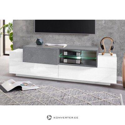 Valkoinen matala TV-pöytä (koro)