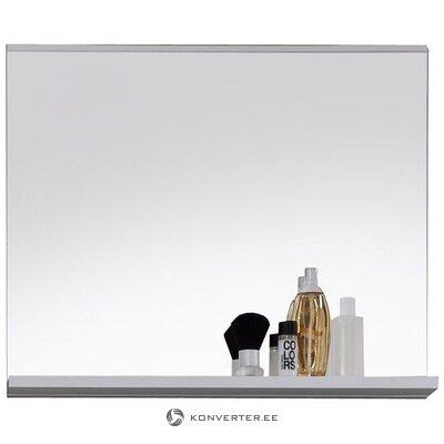 Белое настенное зеркало с полкой (меццо) (в коробке, целый,)
