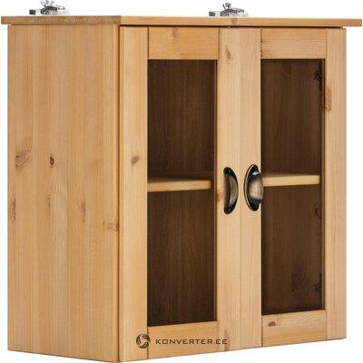 Навесной шкаф из массива дерева светло-коричневого цвета (осло)