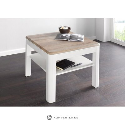 Small white-light brown coffee table with shelf (inosign) (healthy, white-light brown)