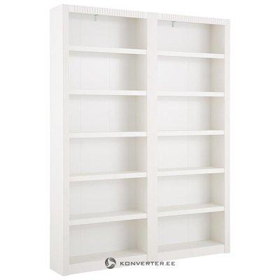 Белый книжный шкаф из цельного дерева (берген)