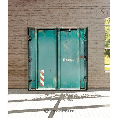 Green wardrobe with slider design (whole, in box)