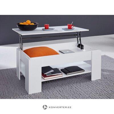 Balts izvelkams kafijas galdiņš (kastē, vesels)