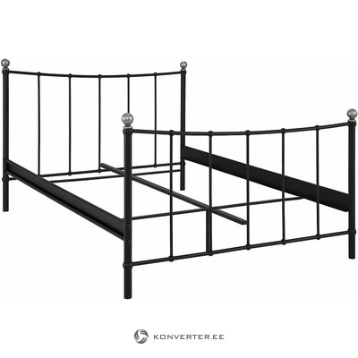 Black Metal Bed (Metha) (140x200cm)