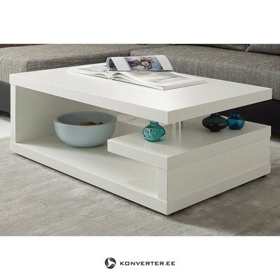 White sofa table with shelves (inosign) (beauty flaws, hall sample)