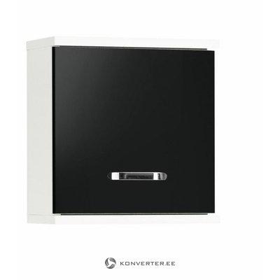 Musta ja valkoinen pieni seinäkaappi