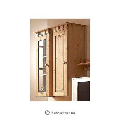 Medžio masyvo sieninė spintelė su medinėmis durimis (kubrika)