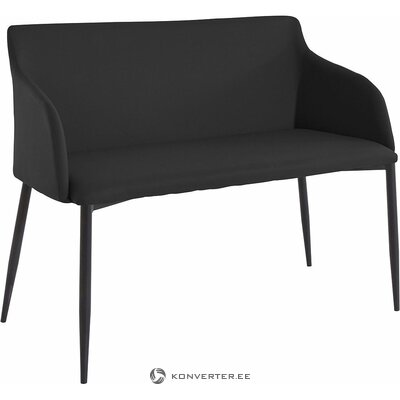 Black sofa / bench (breite)