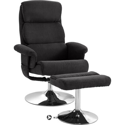 Anthracite swivel armchair (boston)