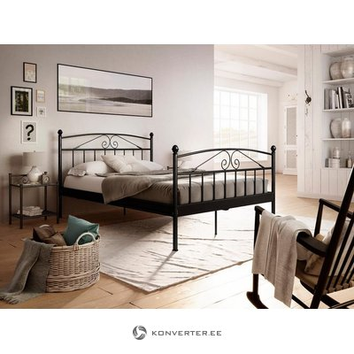 Black wide bed frame from birch (180x200) (whole, in box)