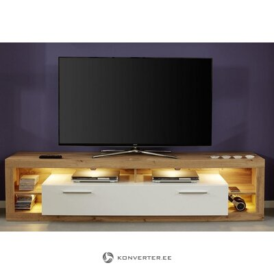 Brown-white wide tv cabinet (rock) (with beauty flaws, hall sample)