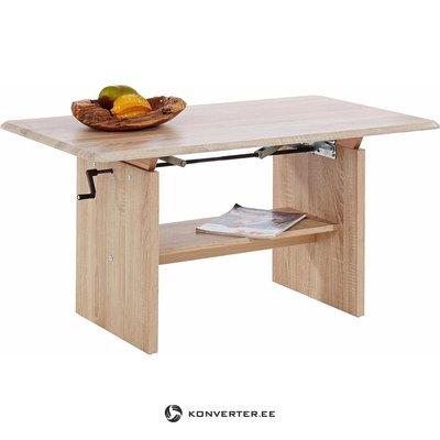 Kafijas galdiņš ar regulējamu augstumu (ar skaistuma defektiem, gaiši brūns, kastē)