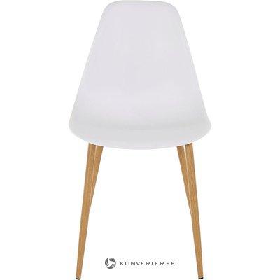 Valko-ruskea design-tuoli