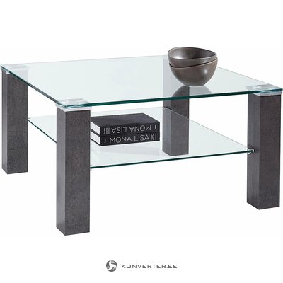 Glass Coffee Table (gray, in box, with defects)