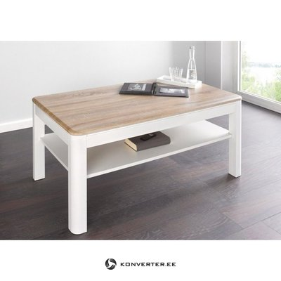 White-brown coffee table with shelf (inosign) (beauty error, in box)