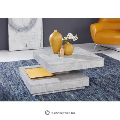 Gray swivel coffee table (with beauty defects, in box)