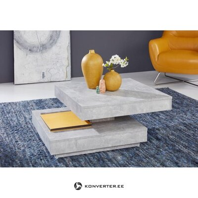 Gray rotating coffee table (hall sample, with beauty bug)