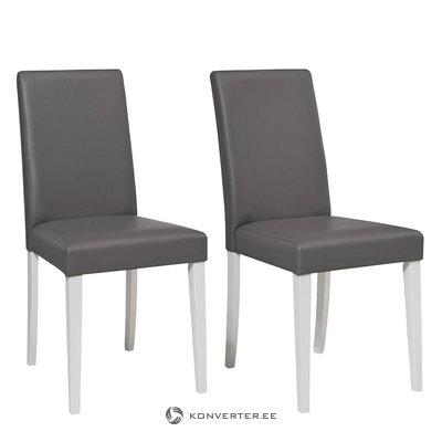 Gray-white upholstered chair (in box, whole)