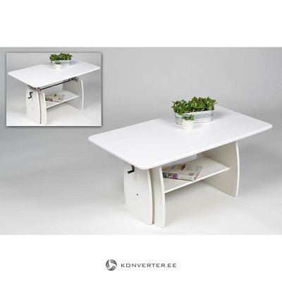 Height-adjustable sofa table (white, with box, with defects)