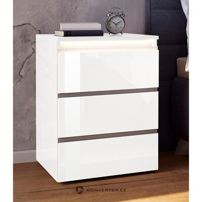 White high gloss bedside table (milan) (with beauty defects, in box)