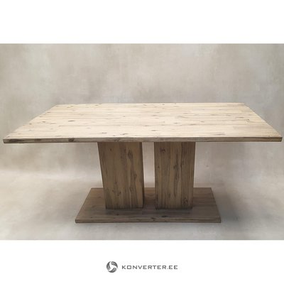 Brown solid wood dining table