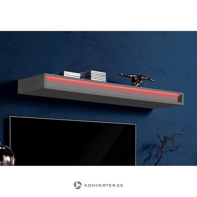 Anthracite high gloss wall shelf (width 120cm) (with beauty defects, in box)