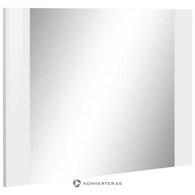 White frame wall mirror (rosco) (whole, in box)