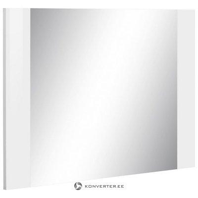 Balta rāmja sienas spogulis (rosco) (vesels, kastē)