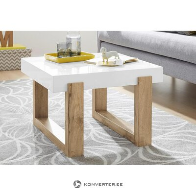 White-brown coffee table (solid)