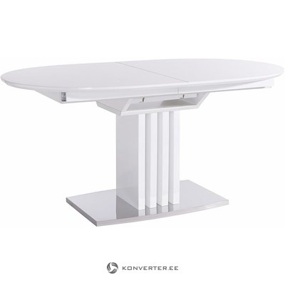 White round expandable dining tables