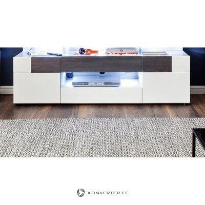 Ruskea ja valkoinen tv-teline (tokyo) (laatikossa, kokonainen)