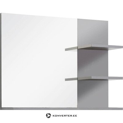 White-gray mirror with 2 shelves (indy) (with flaws, hall sample)