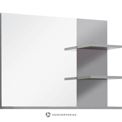 White-gray mirror with 2 shelves (indy) (in a box, whole)