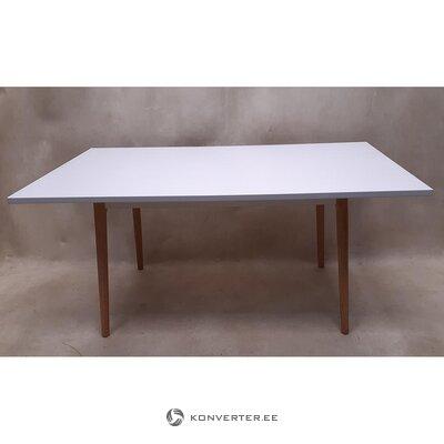 Baltas pietų stalas (su grožio trūkumais, salės pavyzdys)