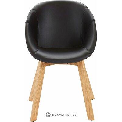 Черный дизайнерский стул (образец холла небольшой недостаток красоты)