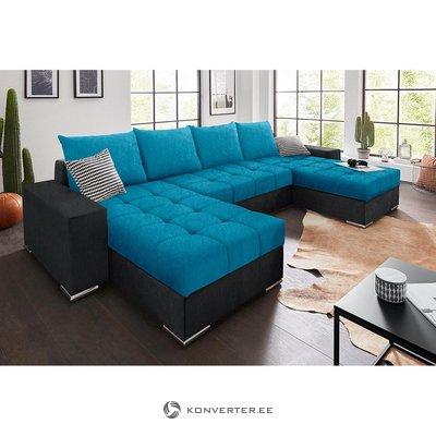 Синий-антрацитовый диван-кровать (целый, в коробке)