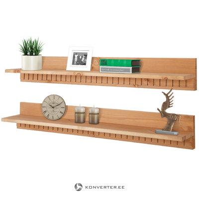 Caroline2 shelves-Stain/wax